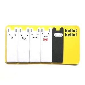 Other - 3-pack Kawaii bunny mini sticky notes/page markers